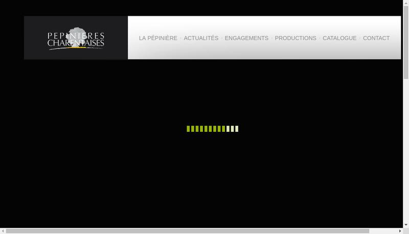 Capture d'écran du site de Pepinieres Charentaises