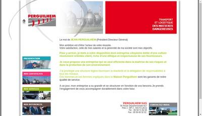 Site internet de Perguilhem Sas