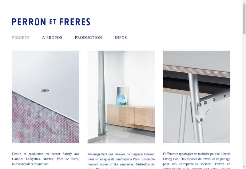 Capture d'écran du site de Perron et Freres