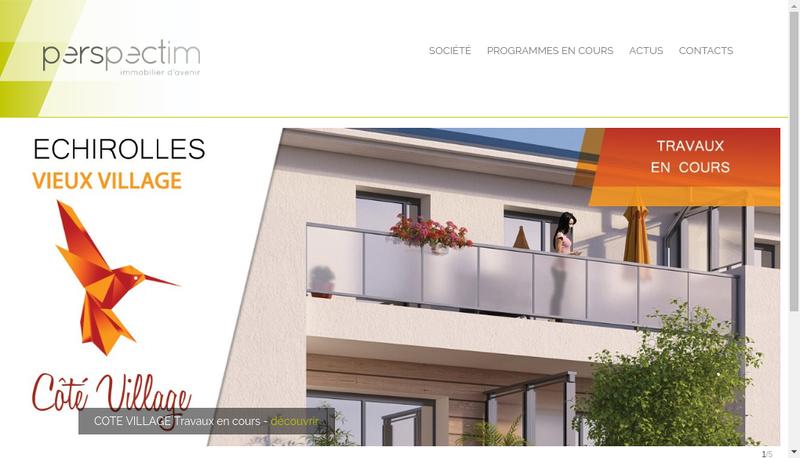 Capture d'écran du site de Perspectim