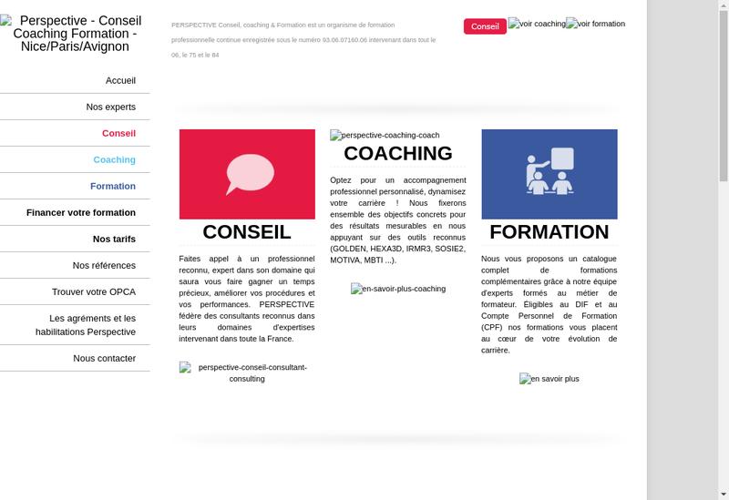 Capture d'écran du site de PCCF