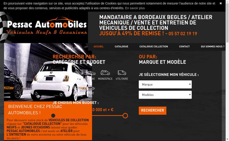 Capture d'écran du site de Pessac Automobiles