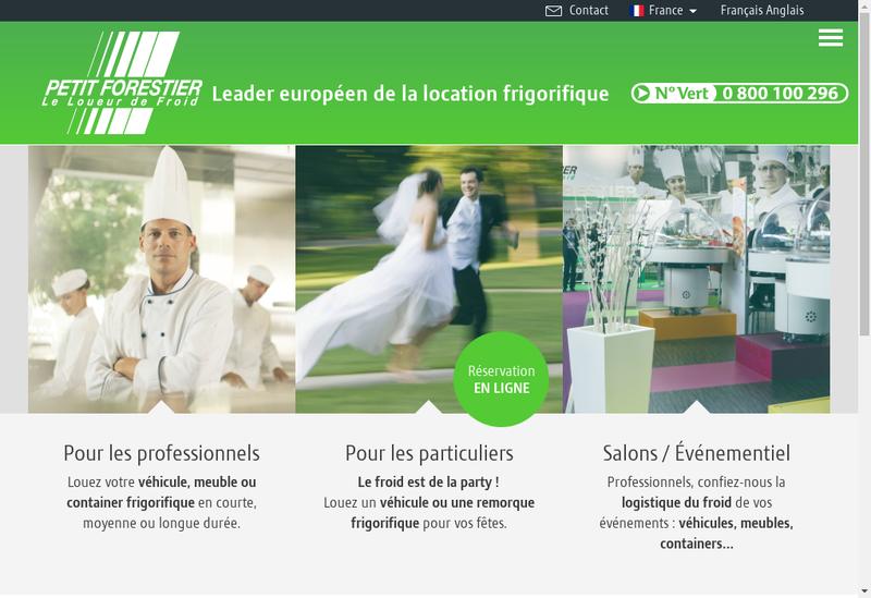 Capture d'écran du site de Pt Forestier Loc Meubles Frigorifiques