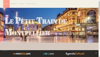 Site internet de Le Petit Train de Montpellier