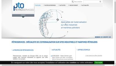 Site internet de Petroservices