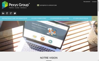 Site internet de Pexys Group