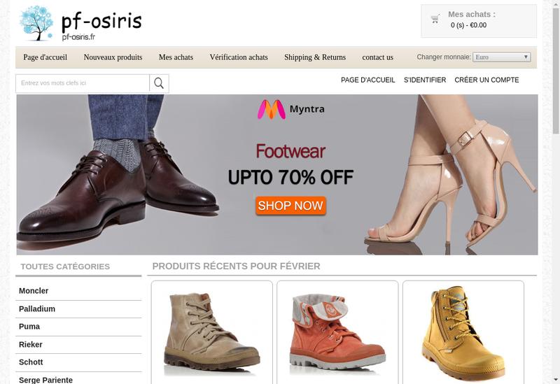 Capture d'écran du site de Pompes Funebres Osiris