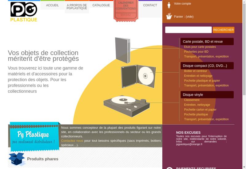 Capture d'écran du site de Pg Plastique