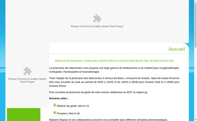 Site internet de Pharmacie les Marronniers