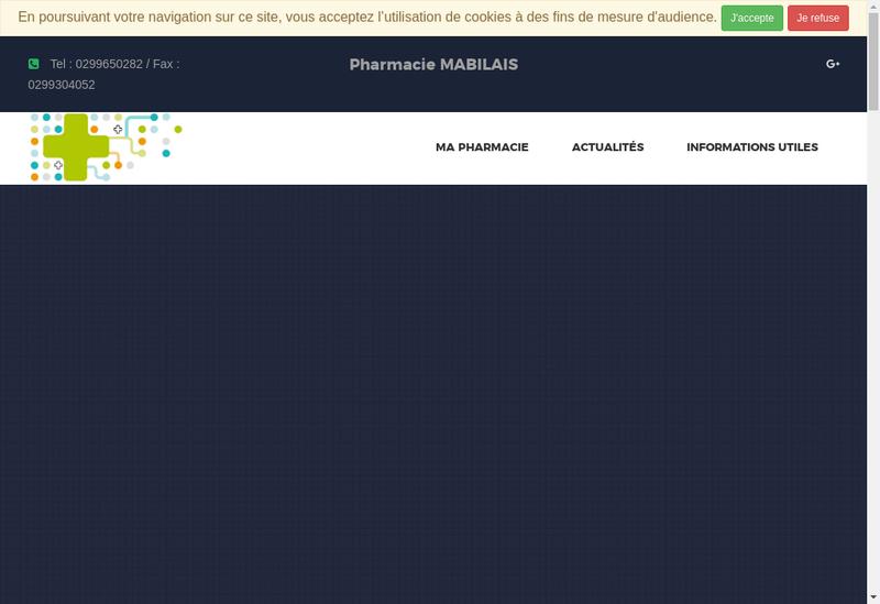 Capture d'écran du site de Pharmacie Mabilais