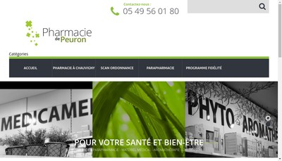Site internet de Dynamic Pharma