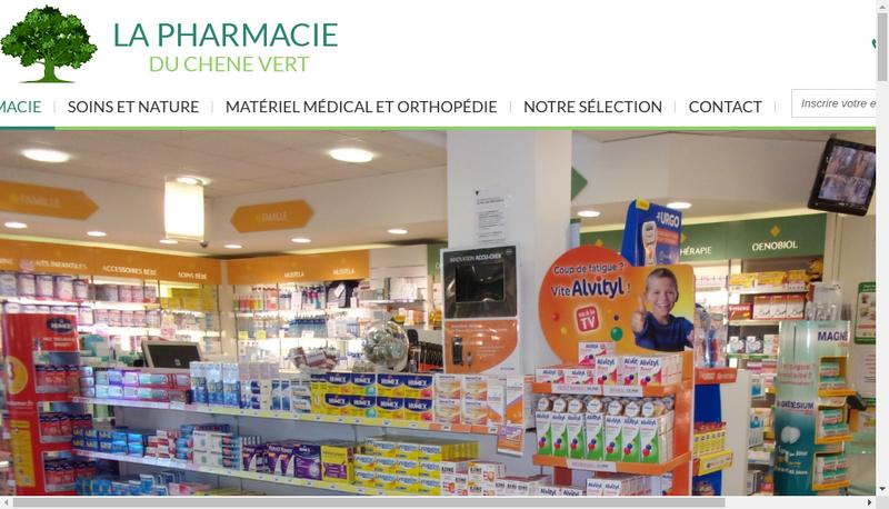 Capture d'écran du site de Pharmacie du Chene Vert