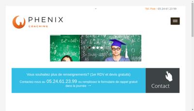 Capture d'écran du site de Anne Phenix