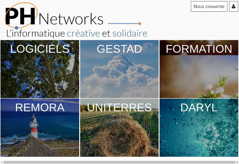 Capture d'écran du site de Ph Networks