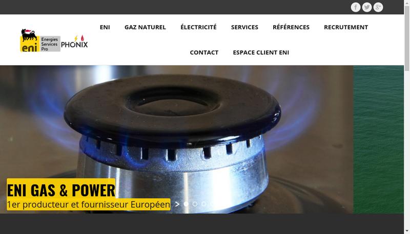Capture d'écran du site de Phonix