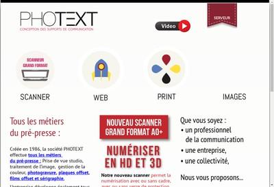 Site internet de Photext