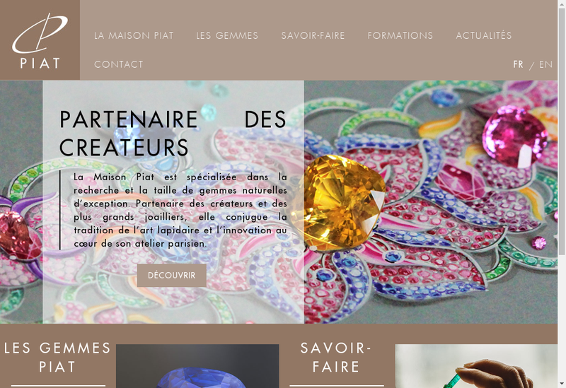 Capture d'écran du site de SARL Piat
