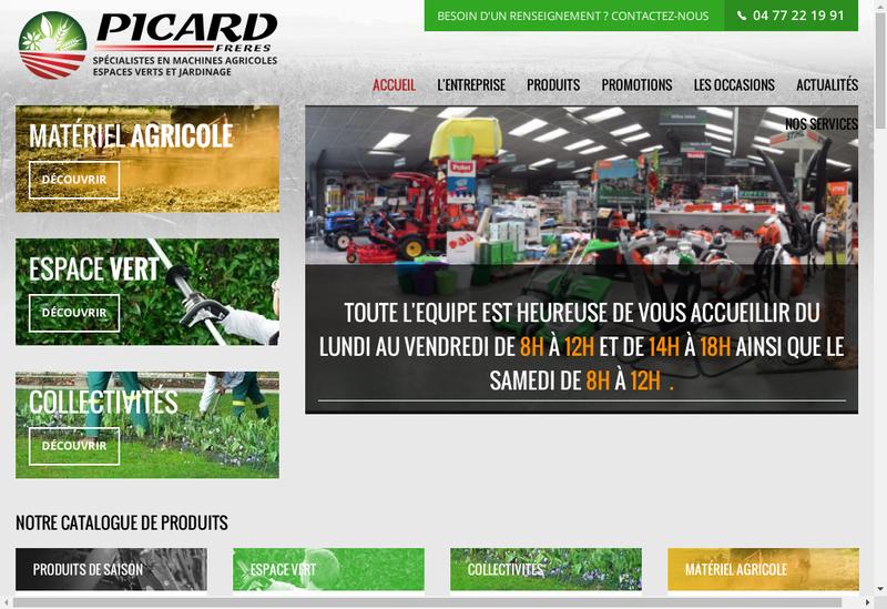 Capture d'écran du site de Nouvelle Societe Picard Freres