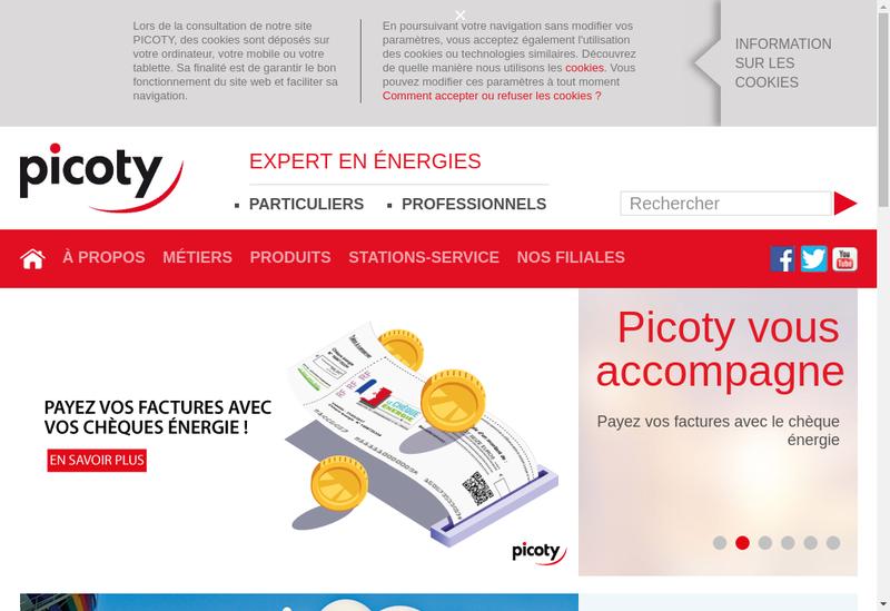 Capture d'écran du site de Picoty SA