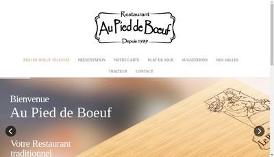 Site internet de Au Pied de Boeuf