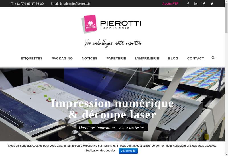 Capture d'écran du site de Imprimerie Pierotti