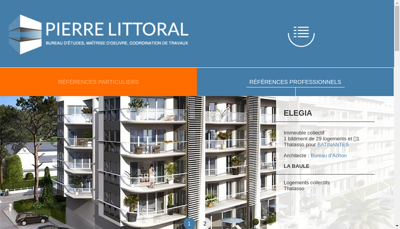 Capture d'écran du site de Pierre Littoral