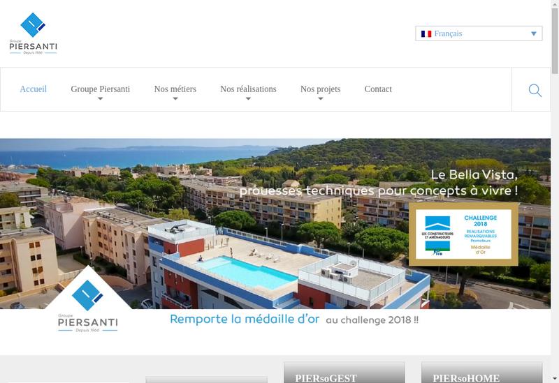 Capture d'écran du site de Groupe Piersanti