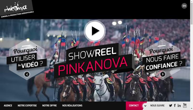 Capture d'écran du site de Pinkanova