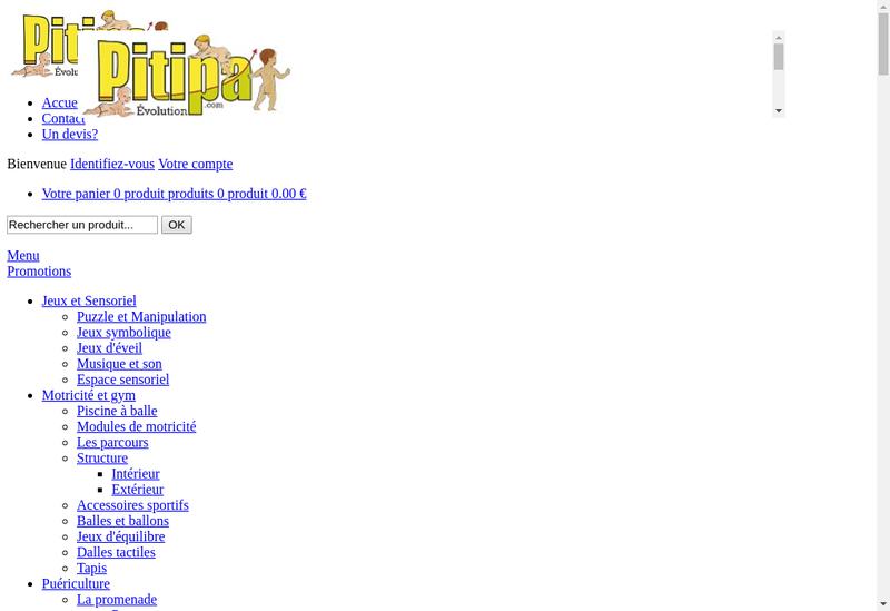 Capture d'écran du site de Pitipa