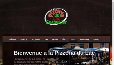 Site internet de Pizzeria du Lac