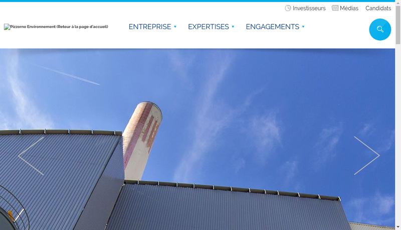 Capture d'écran du site de Pizzorno Environnement Industries