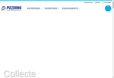 Site internet de Pizzorno Environnement Industries