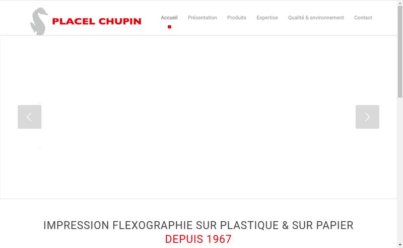 Capture d'écran du site de Placel Chupin
