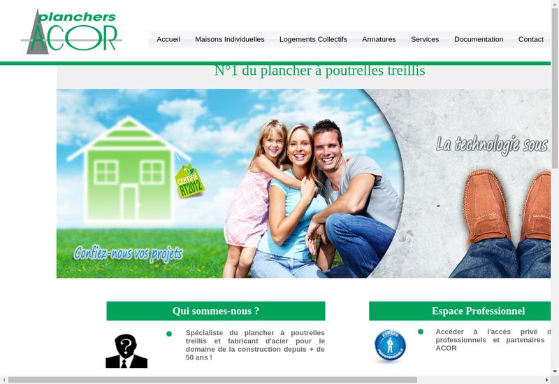 Capture d'écran du site de Fimurex Planchers