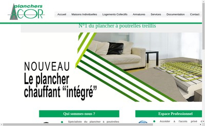 Site internet de Fimurex Planchers