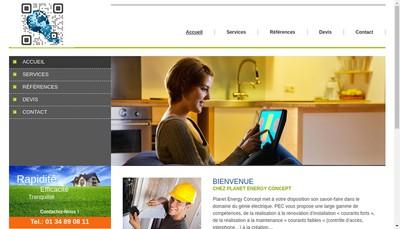 Site internet de Planet Energy Concept