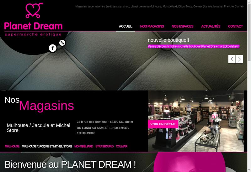 Capture d'écran du site de Planet Dream