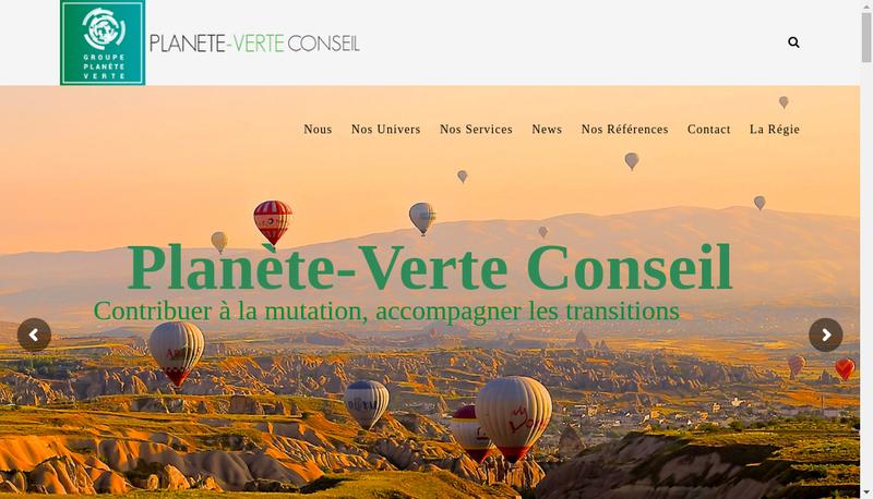 Capture d'écran du site de Planete Verte