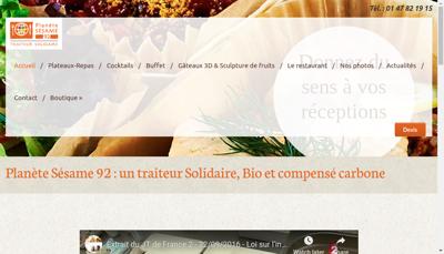 Capture d'écran du site de Planete Sesame 92
