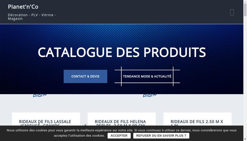 Capture d'écran du site de Planet'N'Co
