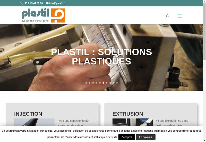 Capture d'écran du site de Plastil France