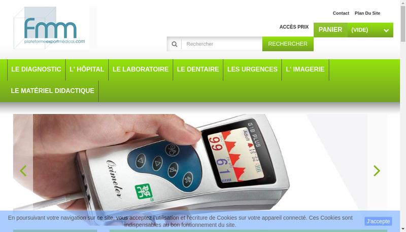 Capture d'écran du site de Les Fabricants de Materiel Med FMM