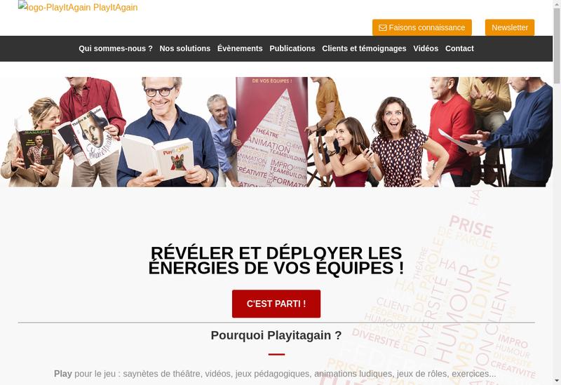 Capture d'écran du site de Playitagain