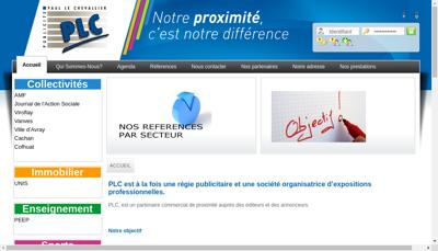 Capture d'écran du site de Societe Publicite Paul le Chevalier