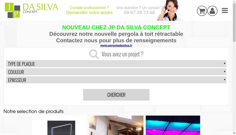Capture d'écran du site de Jp Da Silva Concept