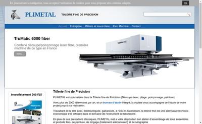 Site internet de Plimetal SARL