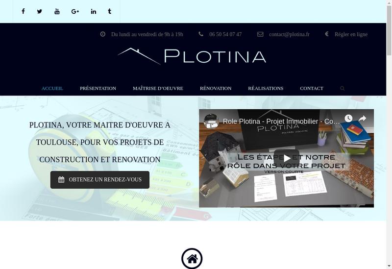 Capture d'écran du site de Plotina