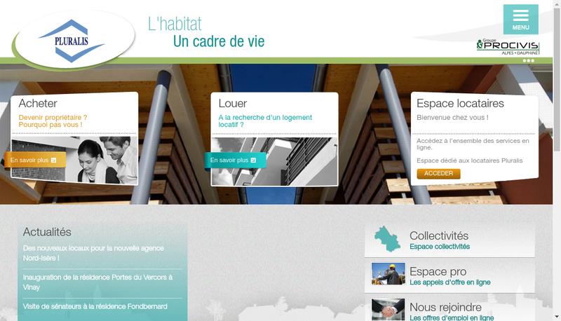 Capture d'écran du site de Pluralis