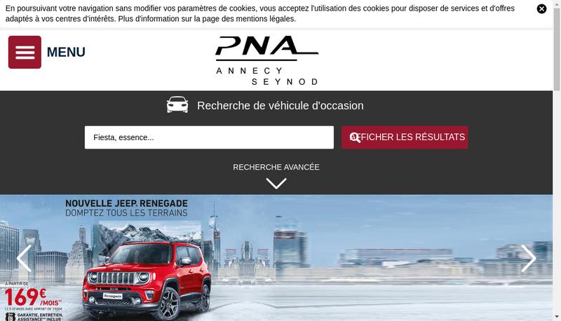 Capture d'écran du site de PNA