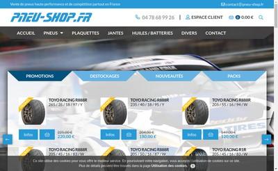 Site internet de Pneu Shop